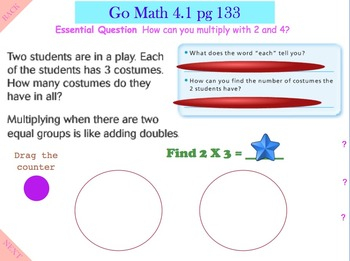 Go Math Interactive Mimio Lesson Chapter 4 Multiplication Facts