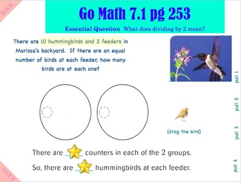 Go Math Interactive Mimio Lesson Ch 7 Division Facts & Strategies
