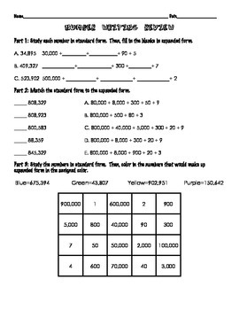 Go Math Lesson 1.2 Support: Writing Numbers