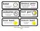 Go Math Lesson Plans  Unit 7 - Word Wall Cards - EDITABLE