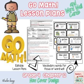 Go Math Lesson Plans Unit 12 - Word Wall Cards - EDITABLE