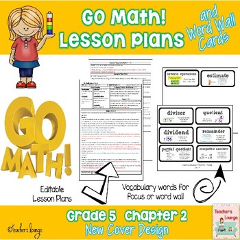 Go Math Lesson Plans Unit 2 - Word Wall Cards - EDITABLE -