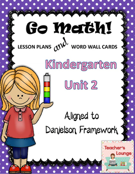 Go Math Lesson Plans Unit 2 - Word Wall Cards - EDITABLE -