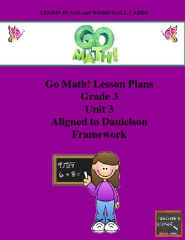Go Math Lesson Plans Unit 3 - Word Wall Cards - EDITABLE -
