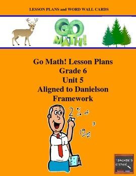 Go Math Lesson Plans Unit 5 - Word Wall Cards - EDITABLE -
