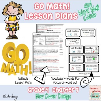 Go Math Lesson Plans Unit 7 - Word Wall Cards - EDITABLE -