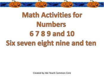 6-10 Number Practice Go Math Center Acitivities Fall/Pumpk