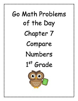 Go Math! Problems of the Day for 1st Grade Chapter 7