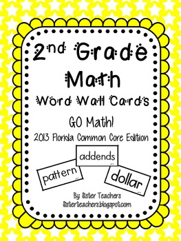 Go Math! Second Grade Word Wall Cards
