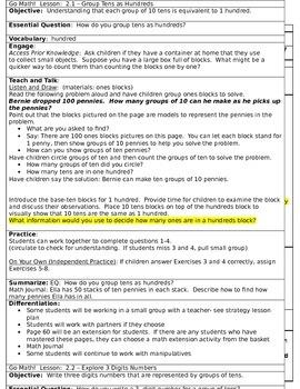 Go Math Unit 2 Grade 2