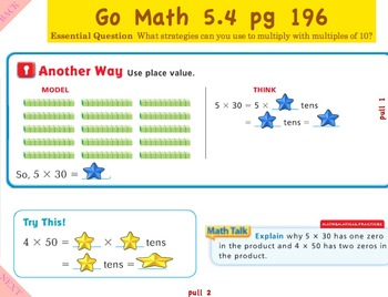 Go Math Interactive Mimio Lesson 5.4 Multiplication Strategies