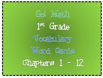 Go! Math : Word Wall Vocabulary Cards (1st Grade)