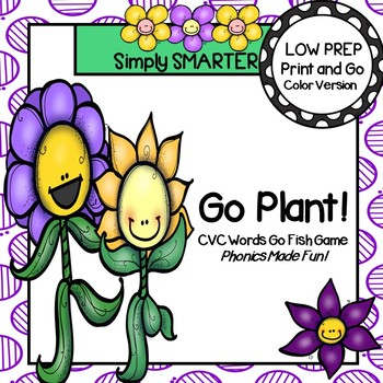 Go Plant!:  LOW PREP CVC Words Spring Themed Go Fish Card Game