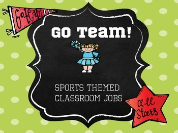 Go Team - Sports Themed Classroom Jobs
