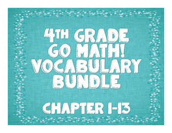 GoMath! 4th Grade Vocabulary BUNDLE