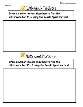 GoMath Ch5 Write About Math