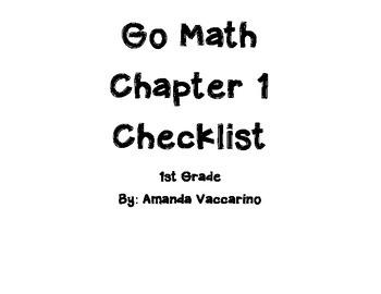 GoMath Chapter 1 Checklist Grade 1