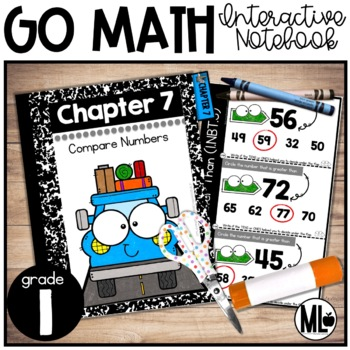 First Grade Math Interactive Notebook, Compare Numbers - C