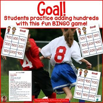 Adding Hundreds: Soccer Themed BINGO Game
