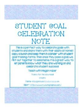 Goal Celebration Note