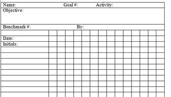 Goal Data Sheets