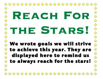 Goal Setting Activity and Display: Reach for the Stars!