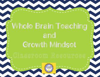 Goal Setting -- Growth Mindset and Whole Brain Navy Theme