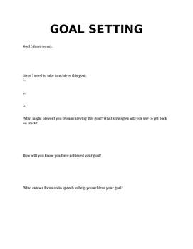 Goal Setting Handout