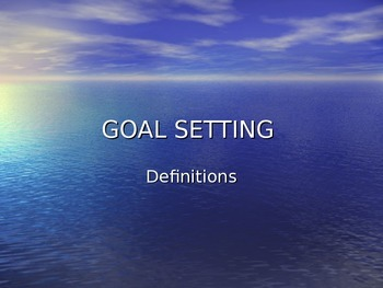Goal-Setting PowerPoint