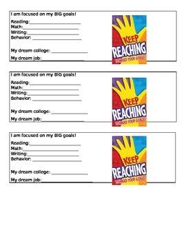 Goal Setting - Student Desk Goal Reminders
