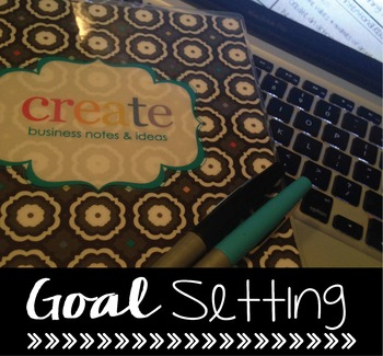 Goal Setting Worksheet {Editable}
