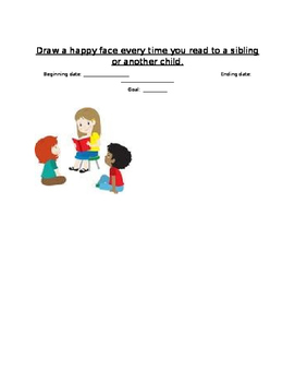 Goal chart for reading aloud to sibling/another child (Hap