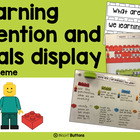Goals Display and Learning Intentions Display- Lego theme -Editable