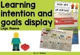 Goals Display and Learning Intentions Display- Lego theme