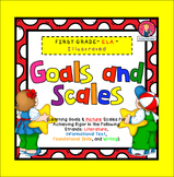 Goals and Scales for First Grade {ELA, Kid Friendly, Pictu