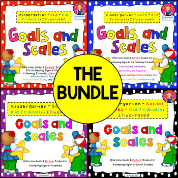 Kindergarten Goals and Scales {THE BUNDLE}