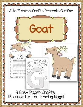 """Goat Craft and Letter """"G"""" Craft"""