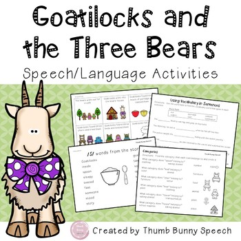 Goatilocks: Speech and Language Activities