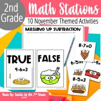 Gobble! Gobble!: 10 Thanksgiving Themed Math Stations