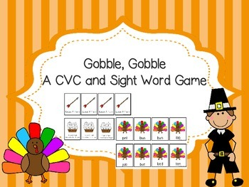 Gobble, Gobble -A CVC and Sight Word Game