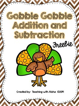 Gobble Gobble Double Digit Addition and Subtraction Withou