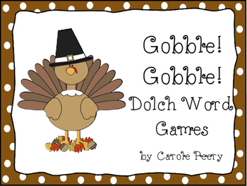 Dolch Word Games Gobble! Gobble!
