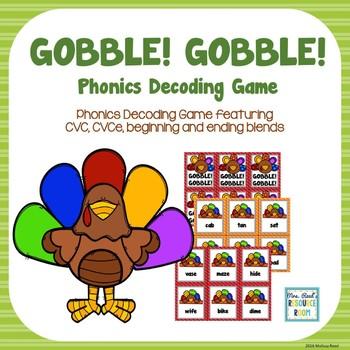 Thanksgiving Phonics Decoding Game