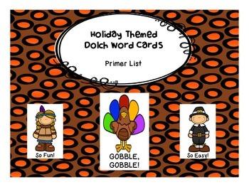 Gobble, Gobble! Primer Dolch Word Game