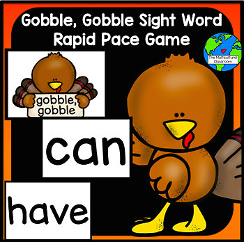 Gobble, Gobble Sight Word Thanksgiving Game, Reading Stree