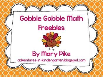 Gobble Gobble Thanksgiving Math Freebie