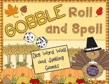 Thanksgiving Word Work (Word Wall and Spelling Word Dice Games)