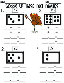 Gobble Up These Fact Families- *FREEBIE*