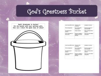 God's Greatness Bucket