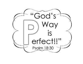 """God's Way is Perfect!"" Bible verse sheet"